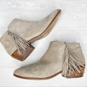 Sam Edelman | Paige, Taupe Suede Ankle Bootie 8.5